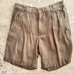 Tommy Bahama 100% Silk Shorts light brown